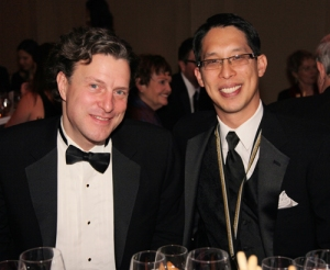 Mark Siegel and Gene Luen Yang at National Book Awards ceremony 2013