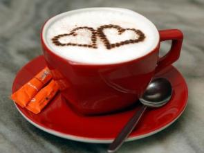 Cappuchino with hearts