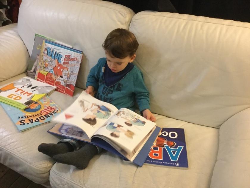 Matteo loves to read!