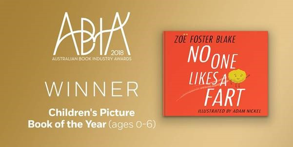 NO ONE LIKES A FART Picture Book of the Year