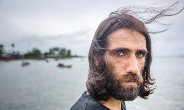 Behrouz Boochani (photo by Jonas Gratzer for the Guardian)