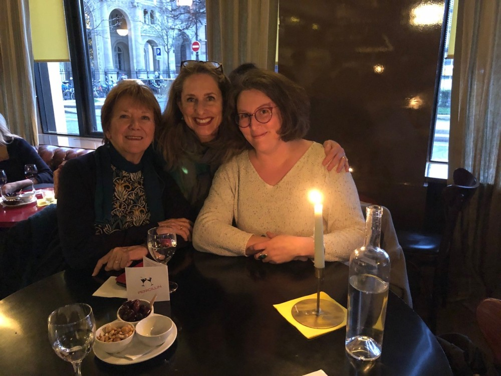 With Vicki Grant and Maëlle Allen at Le Fumoir (07-03-2019)